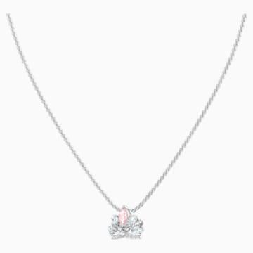 Bee A Queen 项链, 粉红色, 镀铑 - Swarovski, 5501076