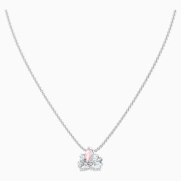 Bee A Queen Necklace, Pink, Rhodium plated - Swarovski, 5501076