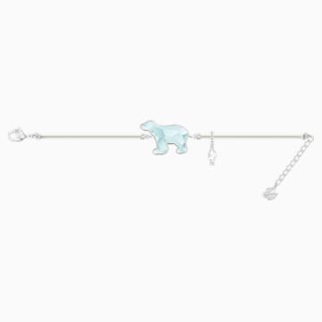 Polar 手鏈, 淺藍色, 鍍銠 - Swarovski, 5502674
