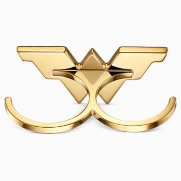 Anillo doble Fit Wonder Woman, tono dorado, combinación de acabados metálicos - Swarovski, 5502819