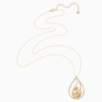 Collar Energic, marrón, Baño en tono Oro - Swarovski, 5502947