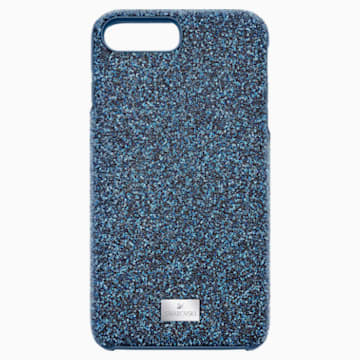 Coque rigide pour smartphone avec cadre amortisseur intégré High, iPhone® 8 Plus, bleu - Swarovski, 5503547