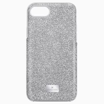 High Smartphone Case with integrated Bumper, iPhone® 8, Grey - Swarovski, 5503548