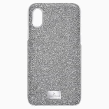 Husă pentru smartphone, cu protecție integrată, High, iPhone® X/XS, nuanță argintie - Swarovski, 5503552