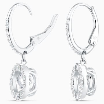 Swarovski Sparkling Dance 穿孔耳环, 白色, 镀铑 - Swarovski, 5504652
