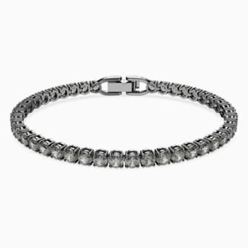 Tennis Deluxe 手链, 黑色, 镀钌 - Swarovski, 5504678