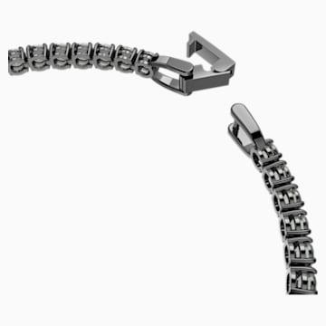 Tennis Deluxe Armband, schwarz, Rutheniert - Swarovski, 5504678