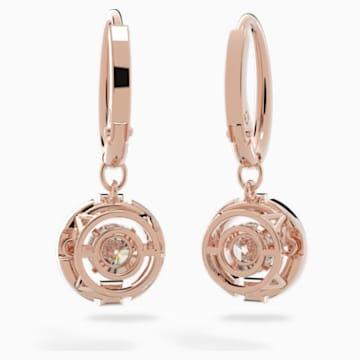 Orecchini Swarovski Sparkling Dance, bianco, placcato color oro rosa - Swarovski, 5504753