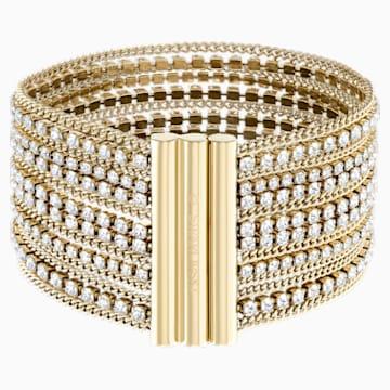 Fit Breites Armband, weiss, Vergoldet - Swarovski, 5505333