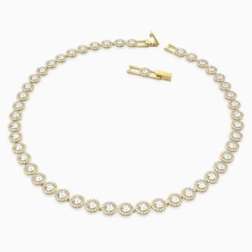 Naszyjnik Angelic, biały, w odcieniu złota - Swarovski, 5505468