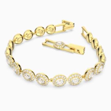 Braccialetto Angelic, bianco, Placcato oro - Swarovski, 5505469
