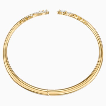 Bracelet-jonc Nice, blanc, Métal doré - Swarovski, 5505622