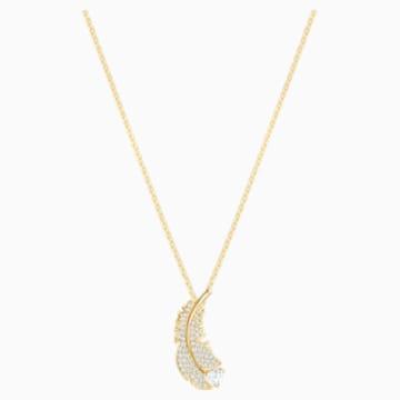 Collier Nice, blanc, Métal doré - Swarovski, 5505740
