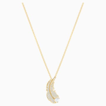 Nice Necklace, White, Gold-tone plated - Swarovski, 5505740