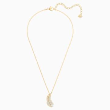Collar Nice, blanco, Baño en tono Oro - Swarovski, 5505740