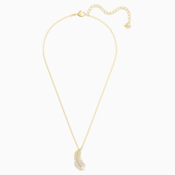 Nice 項鏈, 白色, 鍍金色色調 - Swarovski, 5505740