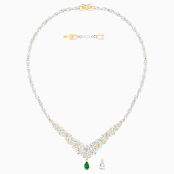 Louison Necklace, White, Gold-tone plated - Swarovski, 5505862