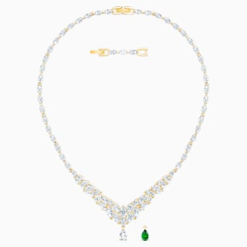 Collier Louison, blanc, Métal doré - Swarovski, 5505862