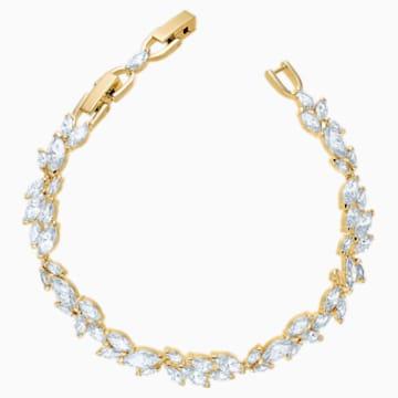 Louison 手鏈, 白色, 鍍金色色調 - Swarovski, 5505863