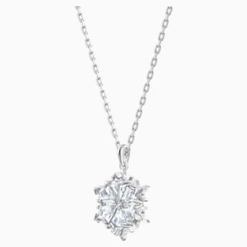 Zestaw Magic Snowflake, biały, powlekany rodem - Swarovski, 5506235