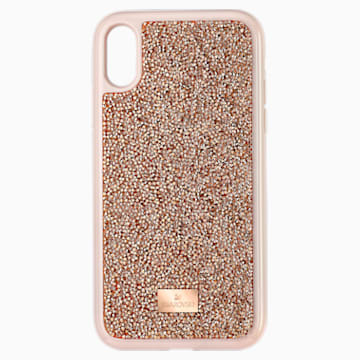 Glam Rock Smartphone Case, iPhone® XR, Pink Gold - Swarovski, 5506306