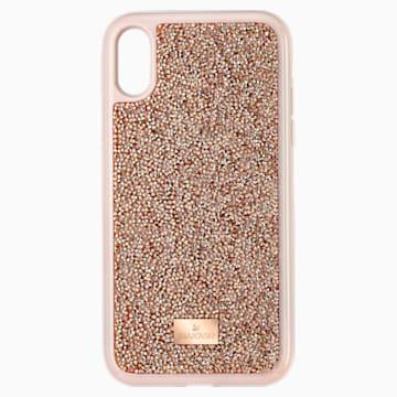 Pouzdro na chytrý telefon Glam Rock, iPhone® XR, růžové zlato - Swarovski, 5506306