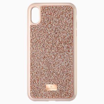 Custodia per smartphone Glam Rock, iPhone® XS Max, tono oro rosa - Swarovski, 5506307