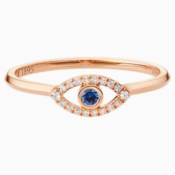 护佑之眼18K玫瑰金蓝宝石钻石戒指 - Swarovski, 5506539