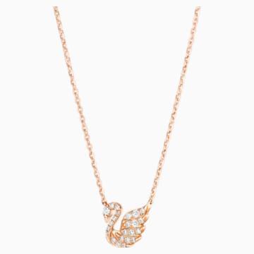 耀目天鹅18K玫瑰金钻石项链 - Swarovski, 5506546