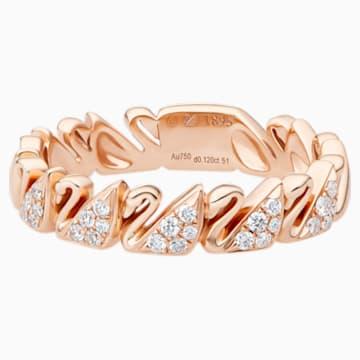 天鹅圆舞18K玫瑰金钻石戒指 - Swarovski, 5506547