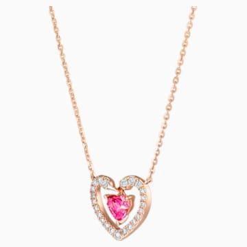 18K RG Kissing Swans Amour NL - Swarovski, 5506557