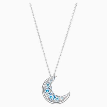 蔚蓝新月18K金粉蓝托帕石 (热熔)蓝宝石钻石项链 - Swarovski, 5506560