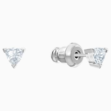 Nice Set, White, Rhodium plated - Swarovski, 5506758