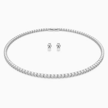 Tennis Deluxe Set White Rhodium Plated Swarovski Com