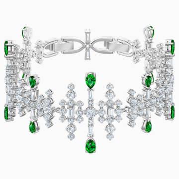 Perfection karkötő, zöld, ródium bevonattal - Swarovski, 5507695