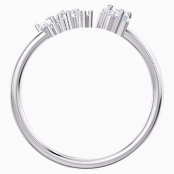 Moonsun Open Ring, White, Rhodium plated - Swarovski, 5508441