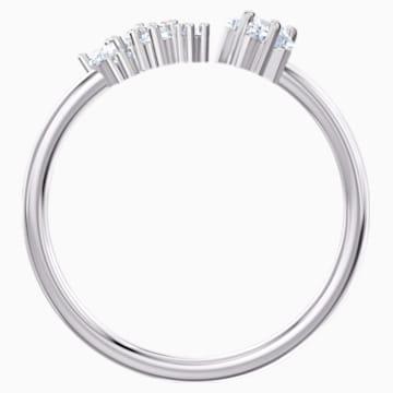 Moonsun open ring, Wit, Rodium verguld - Swarovski, 5508441
