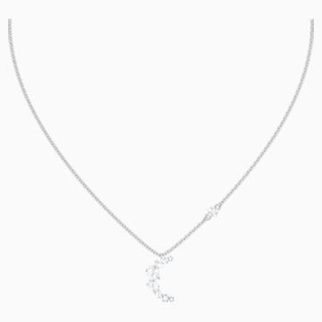 Collar Penélope Cruz Moonsun, blanco, Baño de Rodio - Swarovski, 5508442