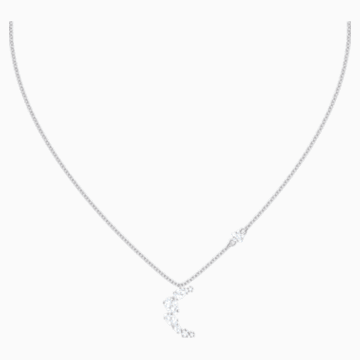 Penélope Cruz Moonsun Necklace, White, Rhodium plated - Swarovski, 5508442