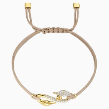 Swarovski Power Collection Hook Bracelet, Beige, Gold-tone plated - Swarovski, 5508527