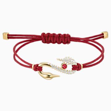 Náramek Swarovski Power Collection Hook, Červený, Pozlacený - Swarovski, 5508530
