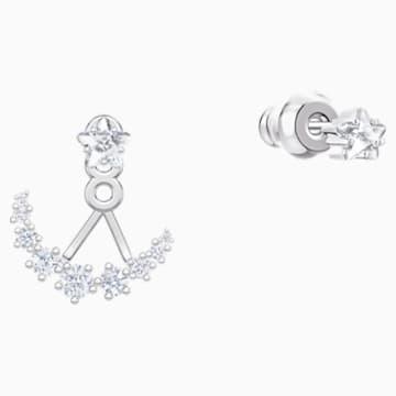 Penélope Cruz Moonsun 穿孔耳環花托, 白色, 鍍白金色 - Swarovski, 5508832