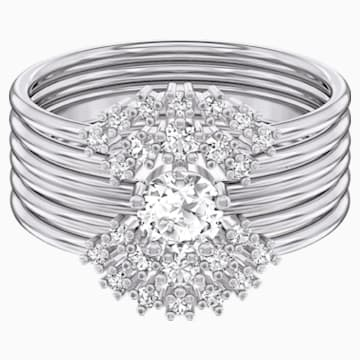 Penélope Cruz Moonsun 戒指套裝, 白色, 鍍白金色 - Swarovski, 5508874