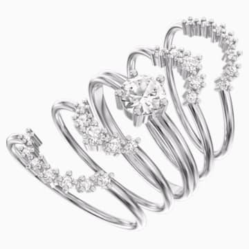 Penélope Cruz Moonsun 戒指套装, 白色, 镀铑 - Swarovski, 5508874