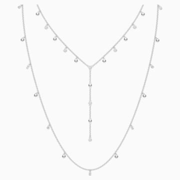 Penélope Cruz Moonsun Necklace, Long, White, Rhodium plated - Swarovski, 5509171
