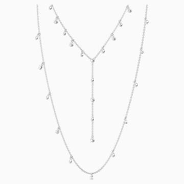 Penélope Cruz Moonsun Necklace, White, Rhodium plated - Swarovski, 5509171