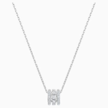 Pendentif Further, blanc, Métal rhodié - Swarovski, 5509400