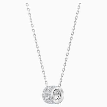 Further 链坠, 白色, 镀铑 - Swarovski, 5509400