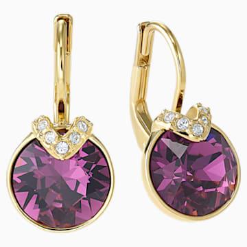 Boucles d'oreilles Bella V, violet, Métal doré - Swarovski, 5509404