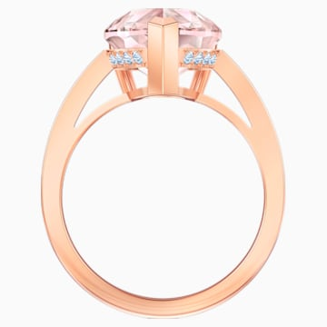Vintage Коктейльное кольцо, Розовый Кристалл, Покрытие оттенка розового золота - Swarovski, 5509678